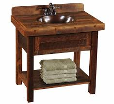 Bathroom Furniture Store Open Oak Barnwood Vanity Custom Log Bathroom Furniture The Log
