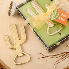 key bottle opener wedding favors gold cactus bottle opener wedding favors