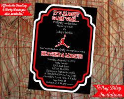 basketball air man baby shower invitation by itsybitsyinvitations