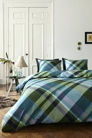 duvet covers green plaid flannel duvet cover blue green plaid