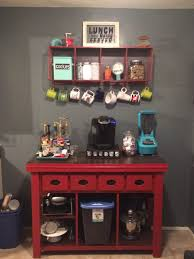 kitchen coffee bar jean anne at home red furniture redo diy
