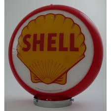 pompe a essence deco globe de pompe à essence avec opaline shell sas brust us planet