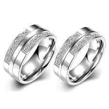 couples wedding rings images Couple wedding rings set white gold plate cz diamond engagement jpg