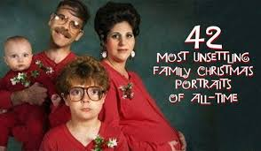 christmas cards funny and strange family portraits