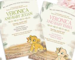 lion king baby shower invitations lion king baby shower invitation jungle invitation disney