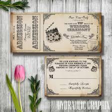 Movie Ticket Wedding Invitations Vintage Film Wedding Ticket Invitation Printable Ticket
