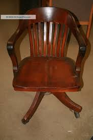 Wooden Desk Chair Vintage Antique Oak Desk Chair Lawyer Office Sheybogan Crocker Co