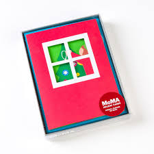 moma thanksgiving trimming the tree boxed holiday cards by moma set of 8