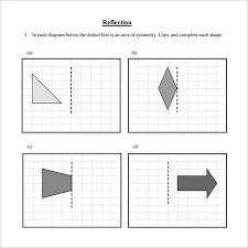 reflection worksheet geometry worksheets transformations