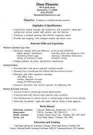 Sample Resume For Medical Assistant by Medical Resumes Sample Resumes