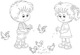 coloring pages for girls and boys inside boy throughout outline of