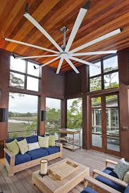 dark wood ceiling fan farmhouse ceiling fan sunroom contemporary with vaulted ceiling