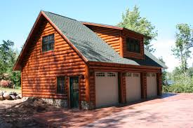log cabin garage with lofts garage with scribe log siding