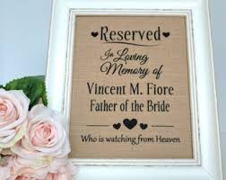 wedding memorial sign wedding memorial etsy