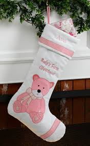 baby u0027s first personalized christmas stocking