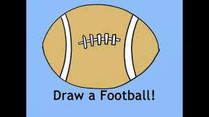 free drawing lesson how to draw a football for beginners youtube