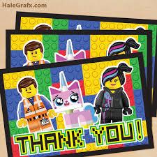 free printable lego movie thank you card lego pinterest lego
