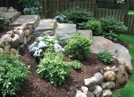 Small Sloped Backyard Ideas Small Sloping Backyard Landscaping Ideas Mystical Designs And Tags