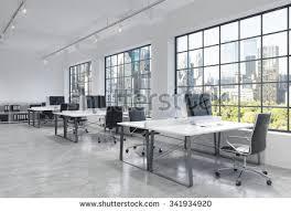Loft Modern Workplaces Bright Modern Loft Open Space Stock Illustration