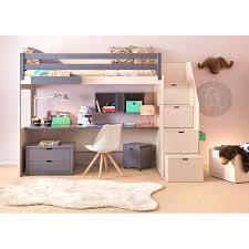 bureau surélevé lit sureleve fille lit suraclevac lit mezzanine fille avec bureau