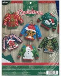 felt kits great deals on bucilla felt ornaments applique kit 4 5 x5 5 set