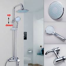 Bathroom Shower Taps by Aliexpress Com Buy Modern Wall Mounted Chrome Bathroom 8 U0027 U0027 Rain