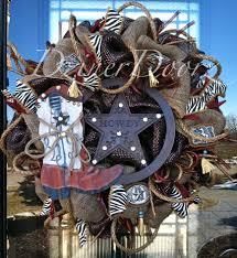 deluxe western cowboy deco mesh wreath by dzinerdoorz on etsy