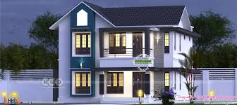 sloped roof modern house 1572 sq ft kerala home design and floor