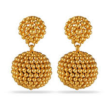 gold earrings with price buy joyalukkas veda collection 22k oxidized gold earrings online