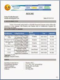curriculum vitae format for freshers pdf free resume format download resume badak