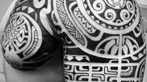 polynesian shoulder chest tattoos ti a iri polynesian tattooti
