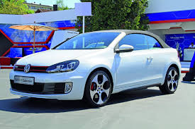volkswagen white convertible new vw golf gti cabriolet pictures and details
