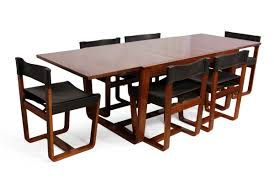 mid century modern rosewood dining table and chairs by gunther
