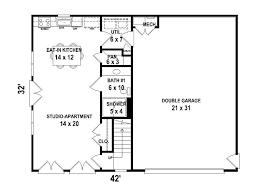 garage apartment plans two car garage apartment plan 006g 0117