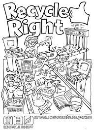 recycling coloring pages for kids virtren com