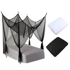 online get cheap poster canopy bed aliexpress com alibaba group white mosquito net 4 post poster bed canopy four corner mosquito insect bug net mesh full