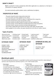 paints notes