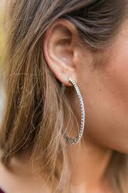 earrings girl girl hoop earrings in silver impressions online boutique