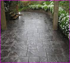 Stamped Concrete Backyard Ideas Stamped Concrete Patio Ideas Home Design Ideas