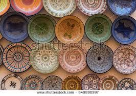 selection handmade dishes sale outside shops stock photo 649890973