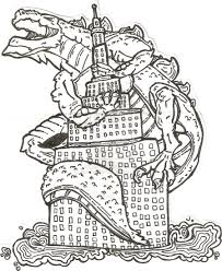 big fat godzilla coloring pages easy godzilla coloring pictures