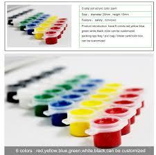 china factory 6 colors professional plaid acrylic paint set buy
