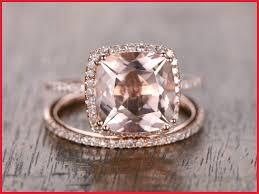 morganite wedding set fresh morganite wedding ring sets image of wedding ring decor