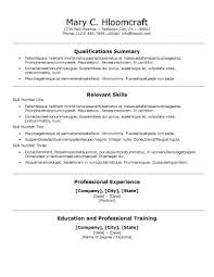 Career Summary Resume Example by 30 Basic Resume Templates