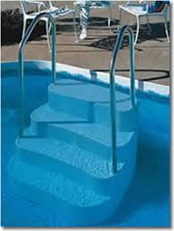 wedding cake pool steps oasis in ground pool steps wish list pool steps