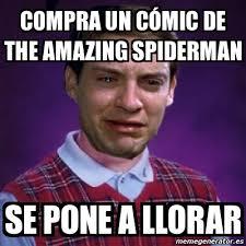 The Amazing Spiderman Memes - meme personalizado compra un c祿mic de the amazing spiderman se