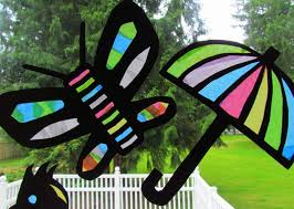 suncatcher tissue paper craft stained glass youtube