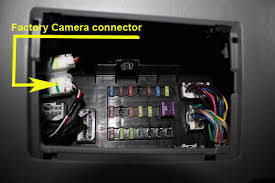 oem back up camera connected to after market radio toyota
