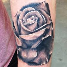 rose tattoo black and gray flower by kyle grover tattoos