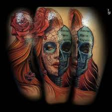 colorful santa muerte tattoo best tattoo ideas gallery